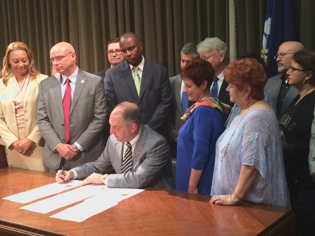 Governor John Bel Edwards signs Executive Order to establish an ESSA Education Advisory Council.
